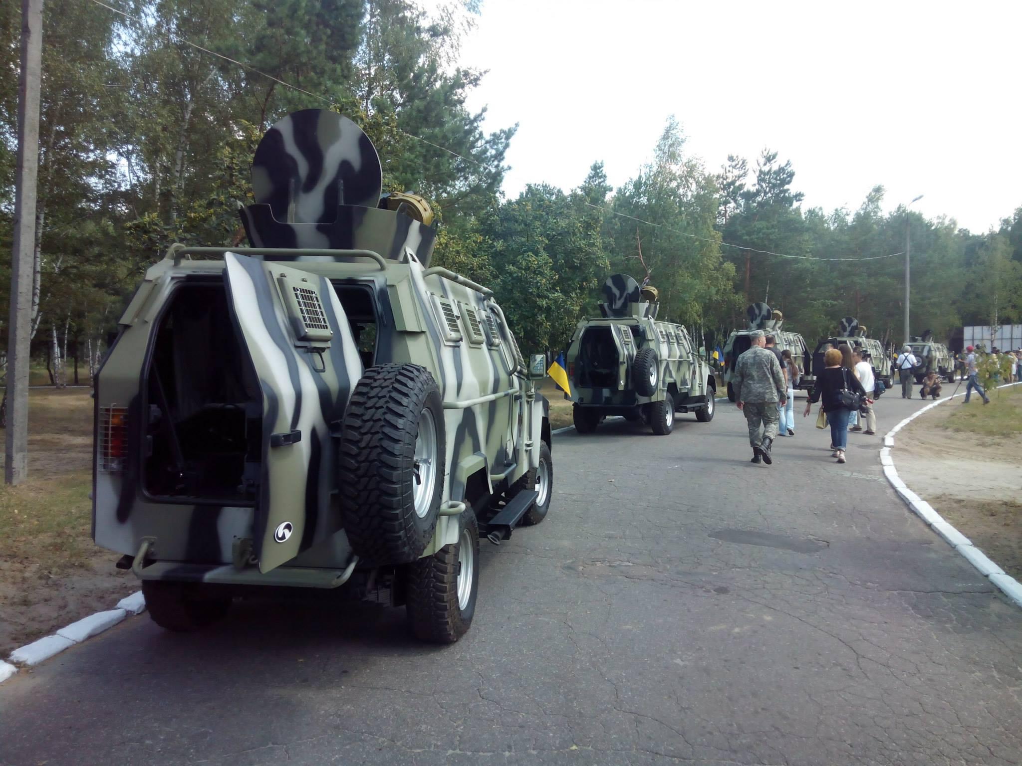 Все оружие оперативной бригады украинского производства.