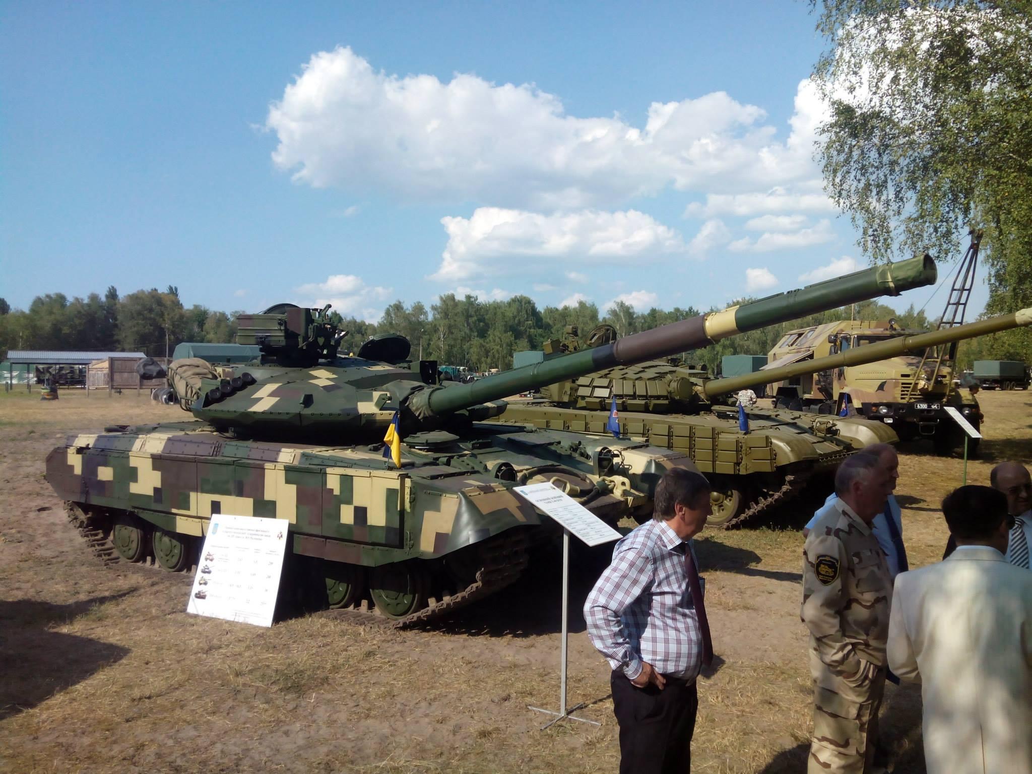 И пару танков. В том числе - последняя модификация Т64, с усиленной броней и противокумулятивными модулями