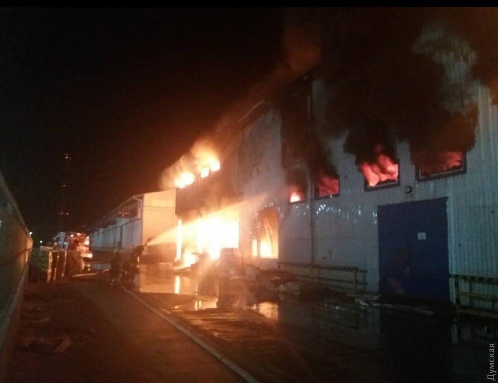 Масштабный пожар под Одессой: горит маслозавод, людей эвакуировали в бомбоубежище. Фото и видео 7