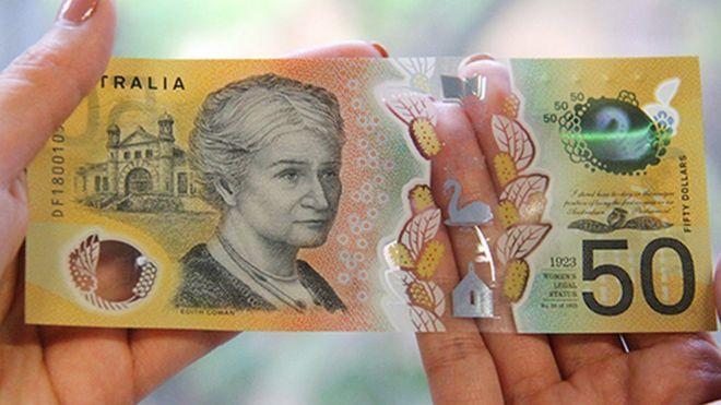 Нановых банкнотах вАвстралии отыскали опечатку. Деньги останутся вобороте