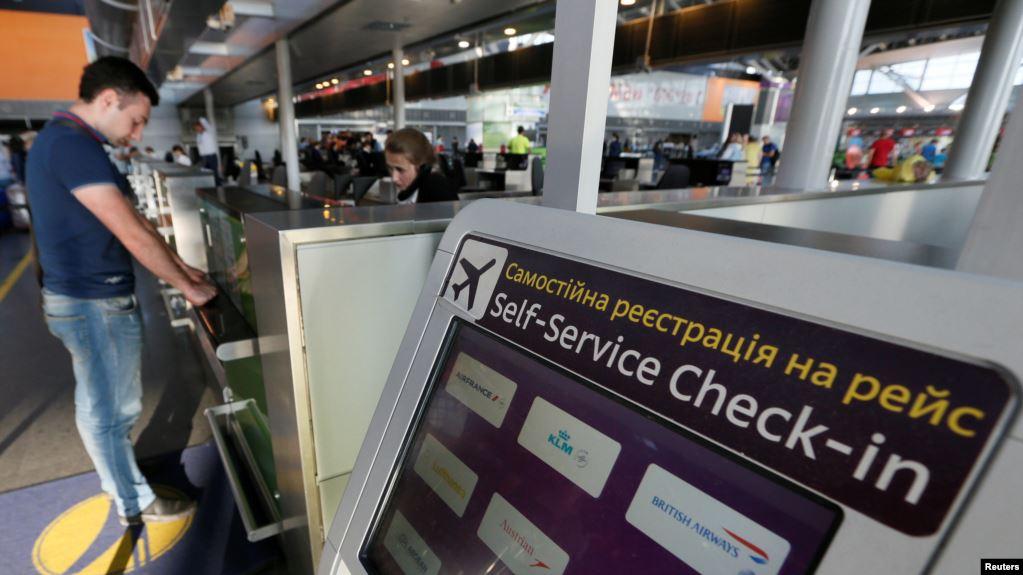Пассажиры заблокировали терминал ваэропорту «Борисполь»