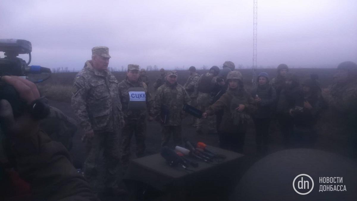 Началось разведение войск у Петровского 1