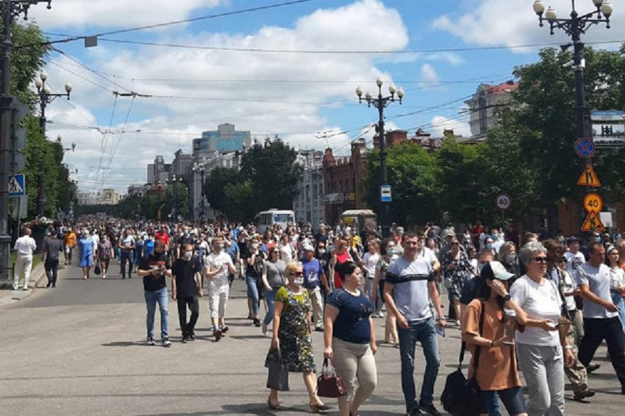 В Хабаровске второй день идут митинги в поддержку задержанного губернатора края