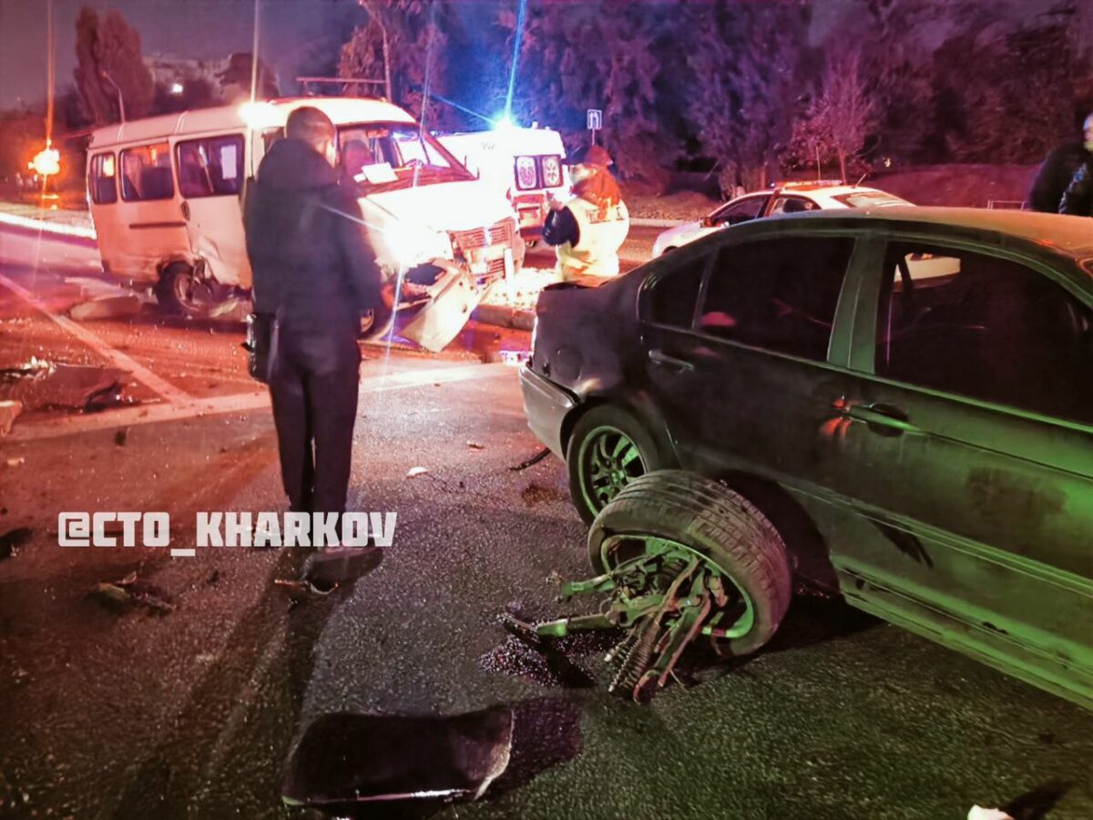 В Харькове пьяный футболист устроил массовое ДТП