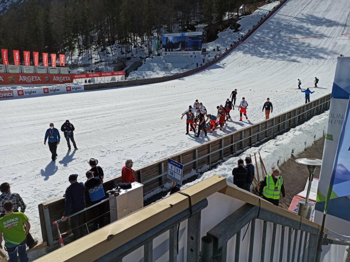 Норвежский прыгун с трамплина упал на скорости 100 км/ч, его ввели в кому: видео прыжка 2
