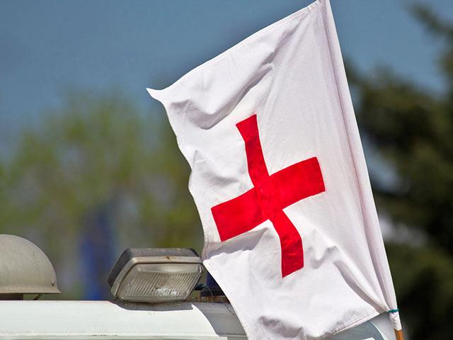 Красный крест гуманитарная фотография