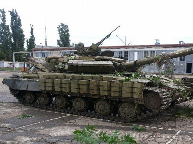 Captured pro-Russian separatists tank.