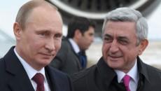 Vladimir Putin and Serzh Sargsyan