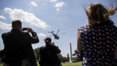 US President Obama departs to Delaware
