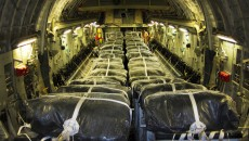 US preparations for a humanitarian airdrop over Iraq