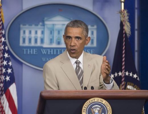 US President Barack Obama delivers a statement