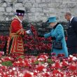 Queen visits poppies in Tower of London moat
